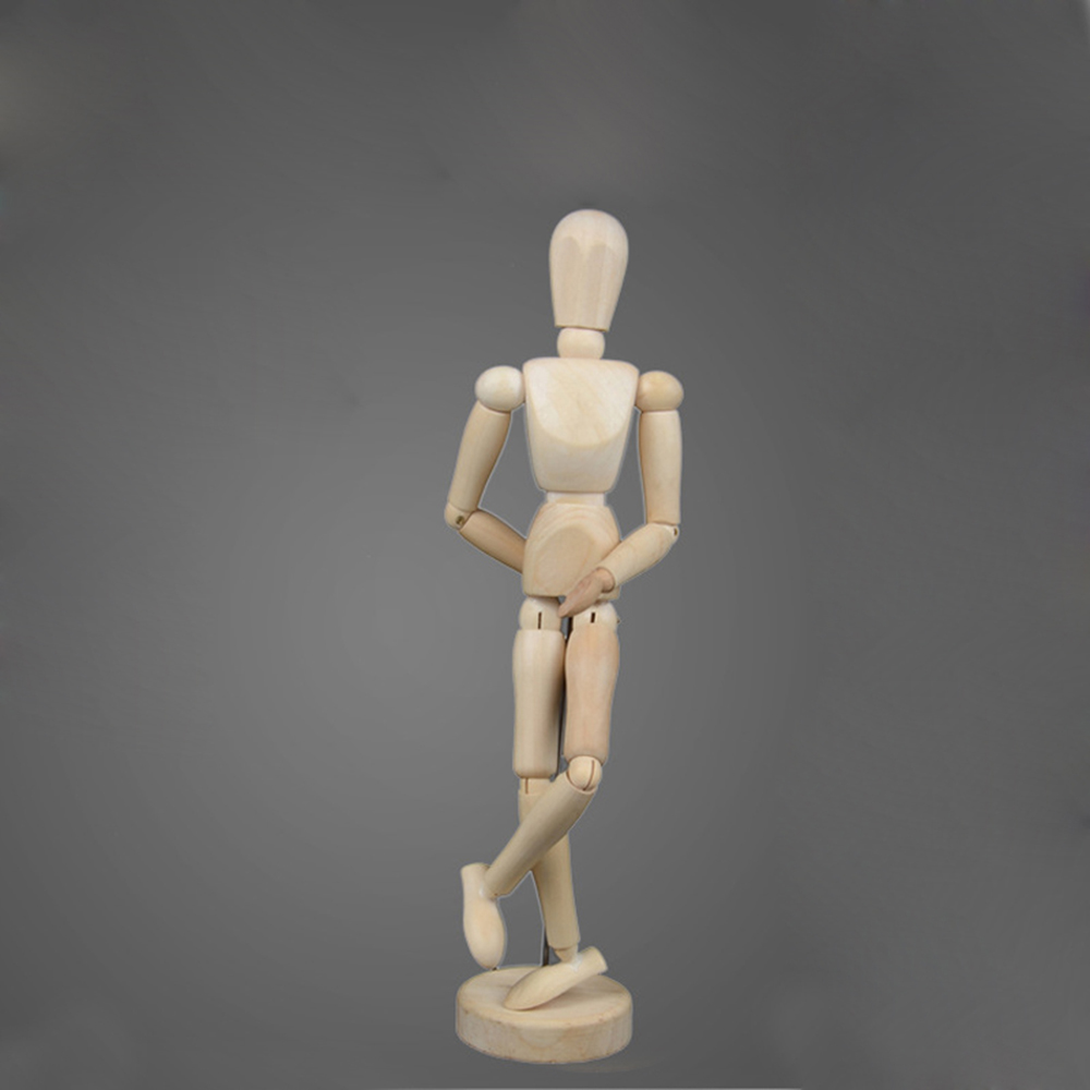 12cm Sketch Wooden Man Model Artist Movable Limbs Doll Male Wooden Toys Figure