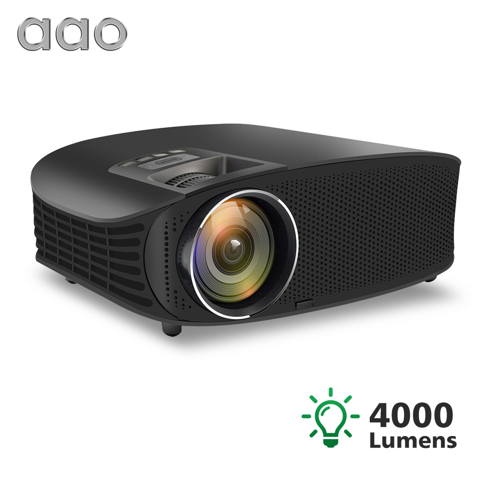 AAO YG600 YG610 HD Projector 4000 Lumens Beamer Support Full HD 1080P Multi Screen Home Theatre HDMI VGA USB Video 3D Projector