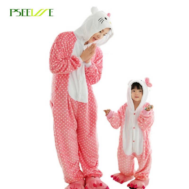 66338d3569 Adult Unicorn onesie pajamas All in One Flannel Anime Pijama Girl boy  Cosplay Warm Sleepwear Hooded