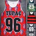Camisa Dos Homens Vestuário de Moda Floral 2pac Tupac 96 Impressão Grade Parte Superior do tanque HBA 69 Pyrex 23 Vest Tops Estrela Tira camisa