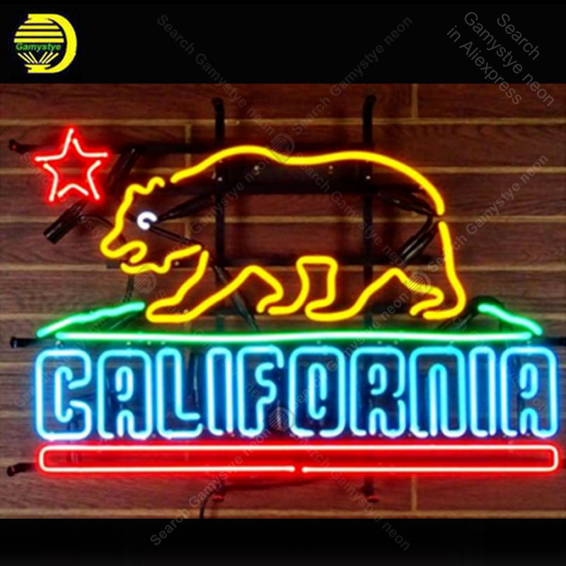 Neon Sign Gift CALIFORNIR Neon Light Sign Bear light Lamp vintage Handcraft for sale neon light signs customized Vintage 24x20 Neon Sign Gift CALIFORNIR Neon Light Sign Bear light Lamp vintage Handcraft for sale neon light signs customized Vintage 24x20