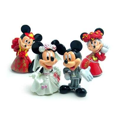 4pcs/lot  Mickey figures wedding Minnie Mouse Donald Duck Cartoon Winnie goofy dog daisy ркзак туристический thule capstone 50l женский тёмно серый серый