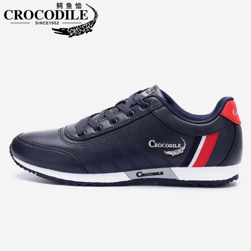 Crocodile New Men Sneaker Leatherwear Walking Shoes Male Flat Althletic Sport Shoes Breathable for Mens Leisure