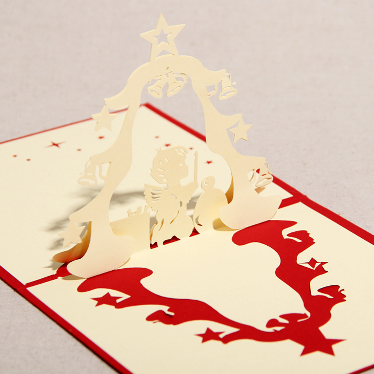 "[ 3D Greeting Card ] ""The Praying Angel"" Handmade Paper"