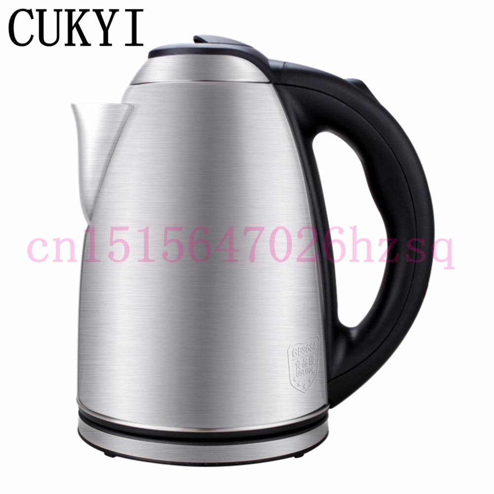CUKYI Thickened food grade 304 stainless steel electric kettle household kettle large capacity electric teapot fast kettle 2L electric kettle large capacity household stainless steel 304 food grade overheat protection
