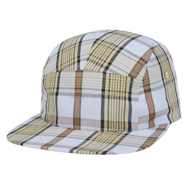 40f5adcd7d9 Classical Plaid Baseball Caps Casual Snap Back Hat Adjustable Vintage  Design Flat Bill Cap for Men Women New Fashion Goldtop-in Baseball Caps from  Apparel ...