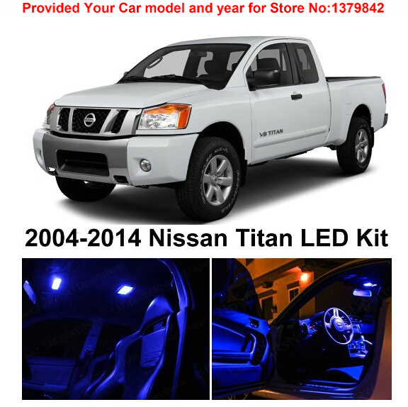 Free Shipping 10Pcs/Lot car-styling Premium Package Kit LED Interior Lights For Nissan Titan 2004-2014