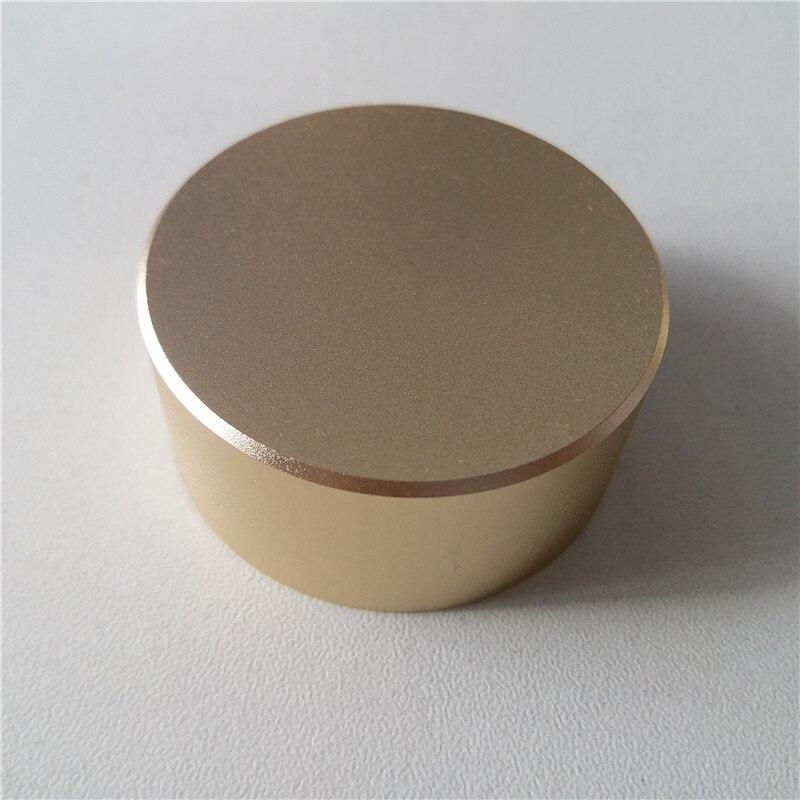 4pcs aluminum plastic knob potentiometer knob 48*22*6mm gold potentiometer cap Volume knob switch cap Encoder for amplifier