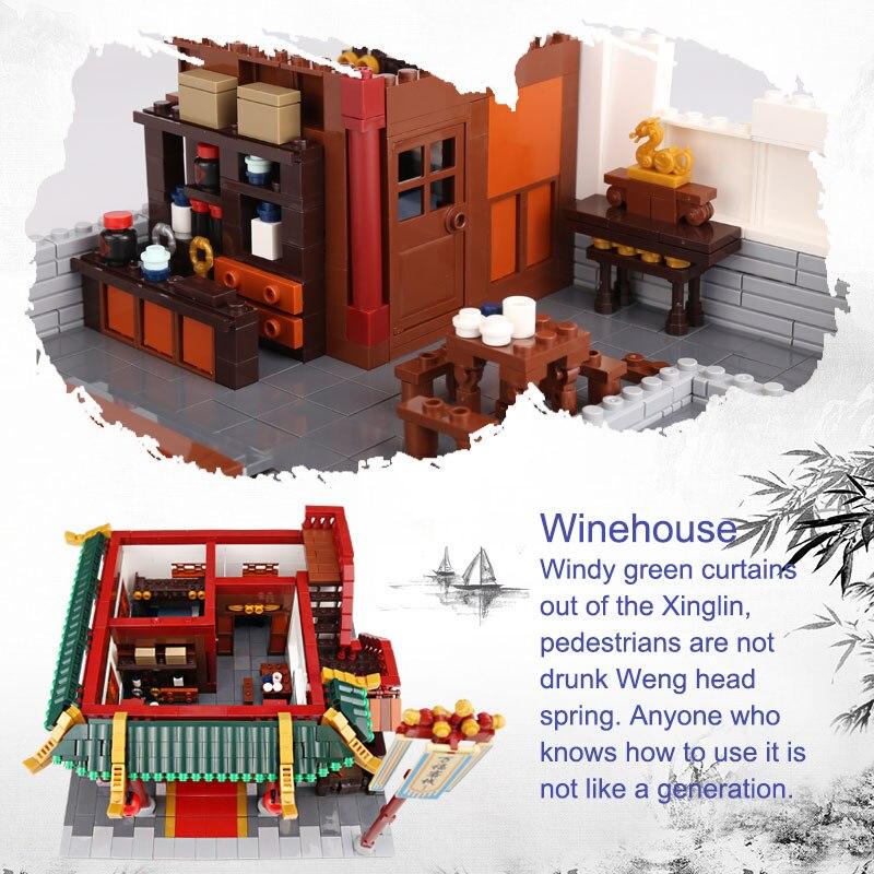 XINGBAO 01022 3046 Pcs Creatore della Serie Cinese Famosa Architettura Blocchi Il Wanfu Inn Set Blocchi di Costruzione MOC Mattoni Modello di Casa - 3