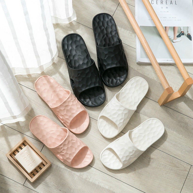 2019 New Fahsion Men Slippers Solid Home Shoes Men Bath Slippers Comfortable Anti-slip Shower Couple Slippers Men Sandals Soft slipper
