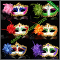 50 pcs / lot mixed order colored drawing  little princess Masquerade mask holiday mask women dance party mask with flowers