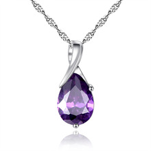 Purple Crystal Zircon Necklace nice gift for women