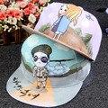 2016 Оригинальный DIY Ручной Полная Печать Pattern Бейсбол Hat Взрослых Пара Творческий Лето Плоским Snapback Street Hat Cap Корейский Стиль