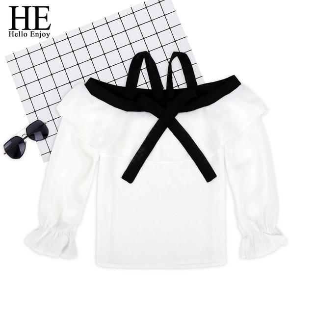 HE Hello Enjoy Summer Girls Clothes Sets Children's Clothing Fashion Girl Shirt Top+Striped Shorts Suits 2019 Kids Clothing 2pcs