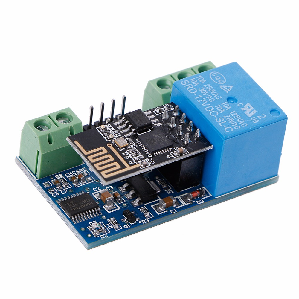 12V ESP8266 2Bit WIFI Relay IOT Intelligent For Home Mobile APP Control esp 07 esp8266 uart serial to wifi wireless module