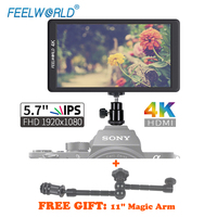 Feelworld F570 5.7 IPS Full HD 1920X1080 4K HDMI Input/output DSLR Camera monitors for Sony Nikon Cannon GH5 Bmppc Cameras