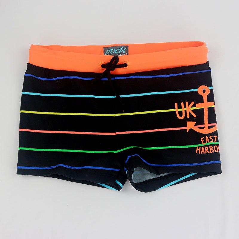 2018 nuevos cabritos del verano del muchacho natación lindo rayas troncos niños Natación Pantalones cortos 2 3 4 5 6 años Niños playa trajes ropa del muchacho