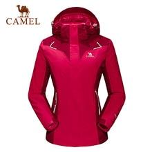 Camel outdoor jacket Women thermal three-in twinset outdoor jacket waterproof windbreaker hiking climbing jacket women A6W153112