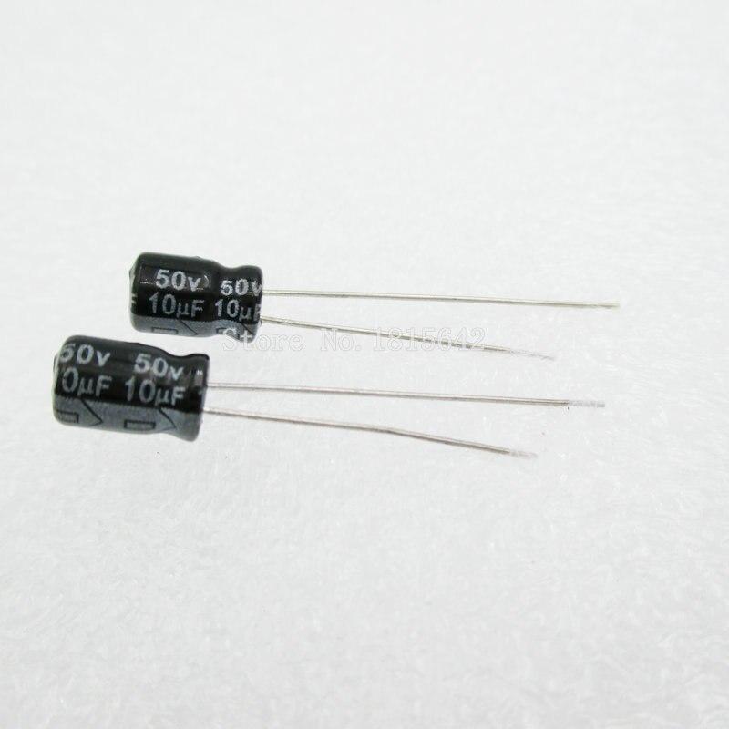 50PCS/LOT 10uF 50V Aluminum Electrolytic Capacitor 5*7 Electrolytic Capacitor 50v 10uf