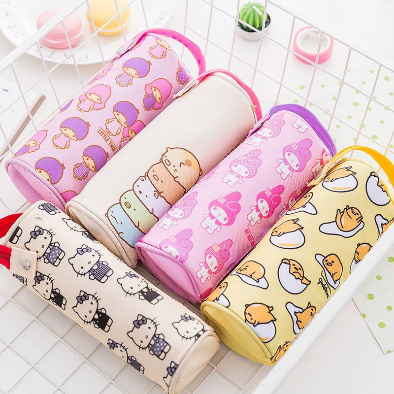 Kawaii Kitty Melody Twin Star Sumikko Gurashi Gudetama Canvas Big Capacity Pencil Pen Bag kawaii kitty melody twin star sumikko gurashi gudetama canvas big capacity pencil pen bag