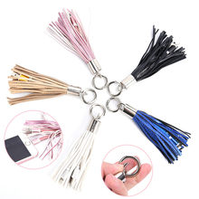 KvJJL Mini KeyChain For iPhone USB Cable Leather Tassel Fast Charger Metal keyring Data Cable Cord Charging Adapter Bag Decor(China)