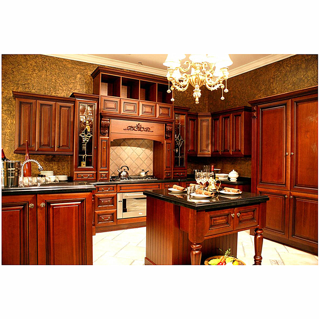 Solid Wood High Quality Exquisite Kitchen Cabinet Designs