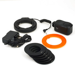 Professional Round 48 LED Ring Flash Light Photography For Canon For Nikon For Sigma Vedio Camera Lens(US Plug)