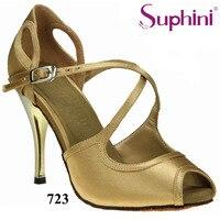 Free Shipping Suphini Wedding Party Shoes Satin Woman Ballroom Suede SoleTango Dance Shoes Zapatos De Baile