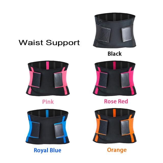 Adjustable Waist Back Support Waist Trainer Trimmer Belt Sweat Utility Belt for Sport Gym Fitness Weightlifting Tummy Slim Belts 1