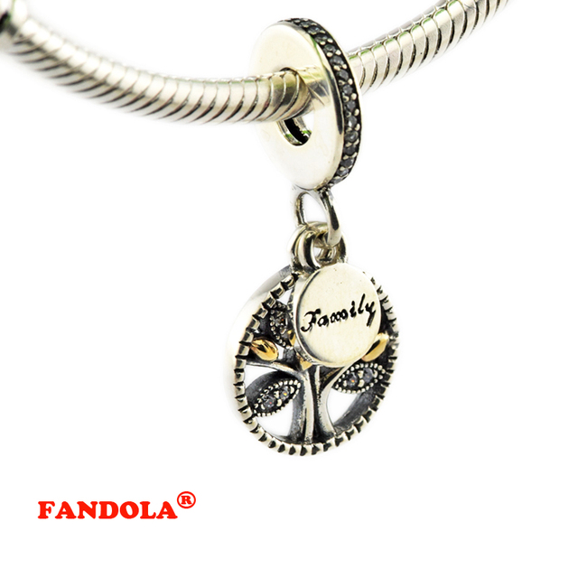 fit pandora bracelets family heritage beads with 14k real gold