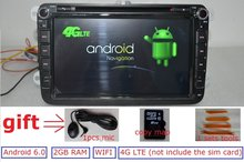 8 inch 2 din Android 6 0 for VW B6 tiguan golf jetta car dvd gps