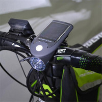OUTERDO 4 Modes Bike Lamp Solar Bicycle Light 360 Degree Rotation Waterproof IP64 Cycling LEDs USB