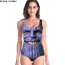 New Sleeveless Swim Suit Sexy 3D Beach Style Suit Printed Girl Swimsuit One Piece Swimwear women Cosplay Thanos marvel Avengers new 1090 sexy girl summer comic avengers superman superwoman 3d prints sleeveless one piece swimsuit swimwear women bathing suit