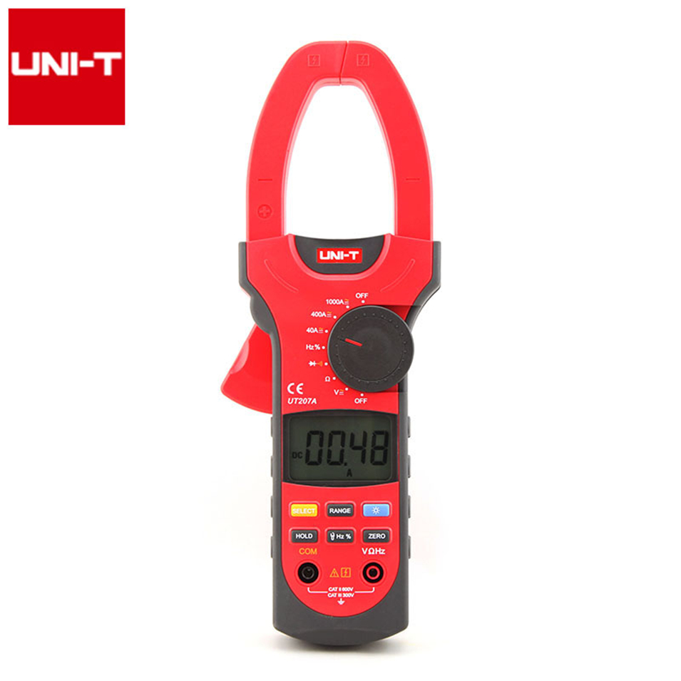 Professional Brand New Auto Range 4000 Counts Resistance Frequency Digital Clamp On Meter UNI-T UT207A mastech ms8260f 4000 counts auto range megohmmeter dmm frequency capacitor w ncv