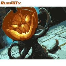 RUOPOTY Frame Halloween Abstract DIY Painting By Numbers Kits Acrylic Paint On Canvas Modern Wall Art Picture For Home Decors(China)