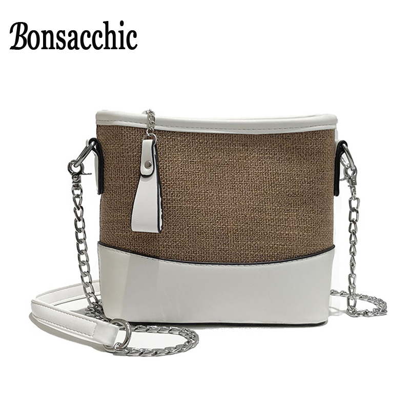 Bonsacchic Small Leather Bags Women Single Strap Shoulder Bag Lady Crossbody Bags for Women 2018 Summer Bags Bolsas Feminina