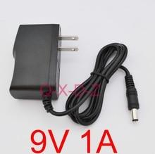 100 PZ di Alta qualità AC 100 V 240 V Convertitore di Commutazione adattatore di alimentazione DC 9 V 1A 1000mA Alimentazione US Plug DC 5.5mm x 2.1mm