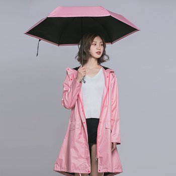 869ab4ce7fe Abrigos largos de Mujer poncho impermeable, al aire libre lluvia Ponchos  abrigo Chaquetas Mujer Chubasqueros Impermeables Mujer revestimiento negro