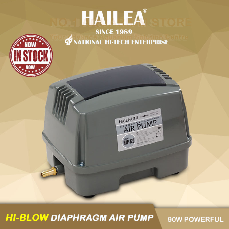 HAILEA BRAND NEW HAP 120 SEPTIC POND AIR PUMP ATU TREATMENT PLANT COMPRESSOR 90W 120L Min AUTHORIZED DEALER in Air Pumps Accessories from Home Garden