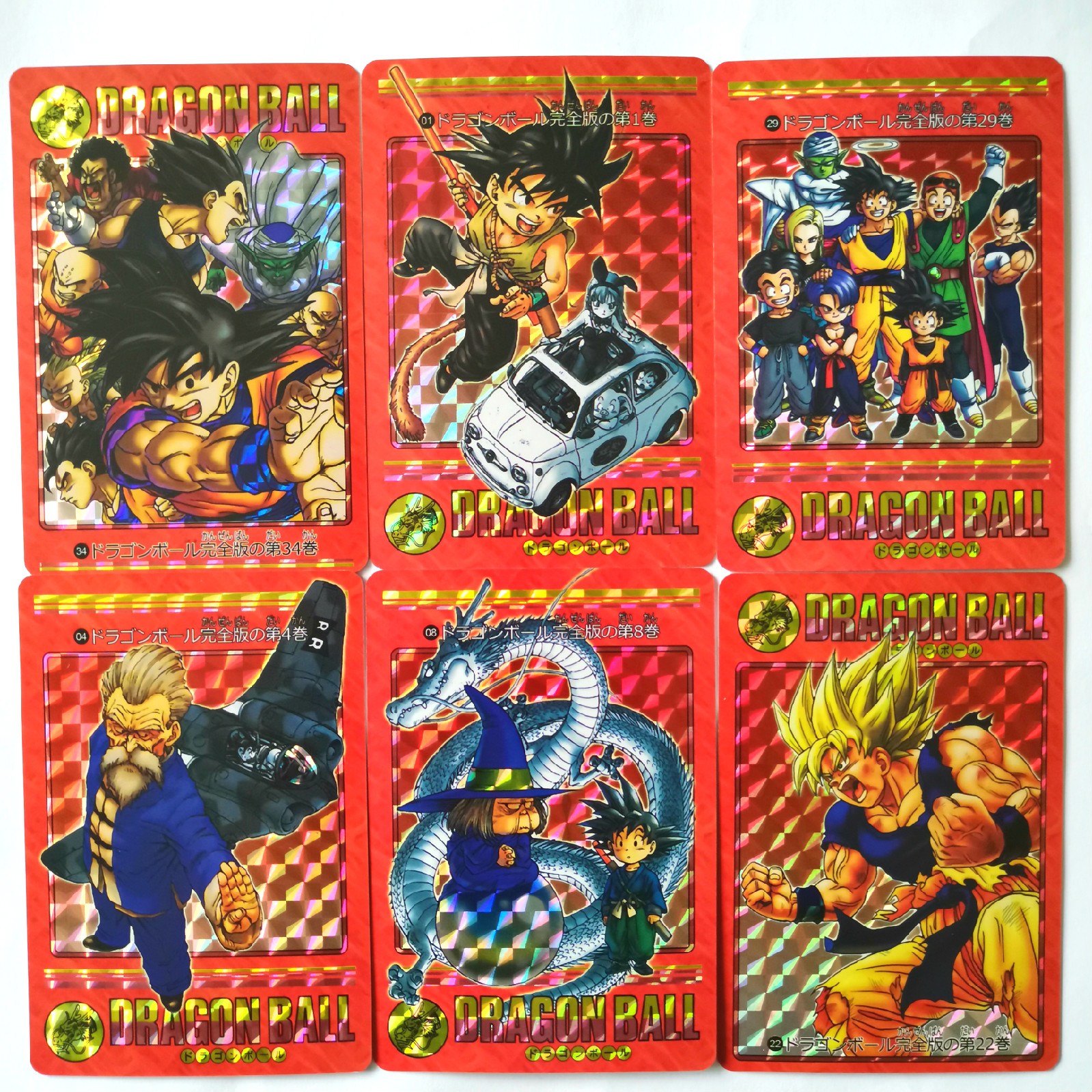 34pcs/set Super Dragon Ball Z Fengyun Red Complete Edition Heroes Battle Card Ultra Instinct Goku Toys Game Collection Cards