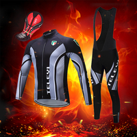 winter bib pants bicycle clothing 2019 thermal fleece bike clothes men windproof cycling jersey set mtb maillot suit sport wear