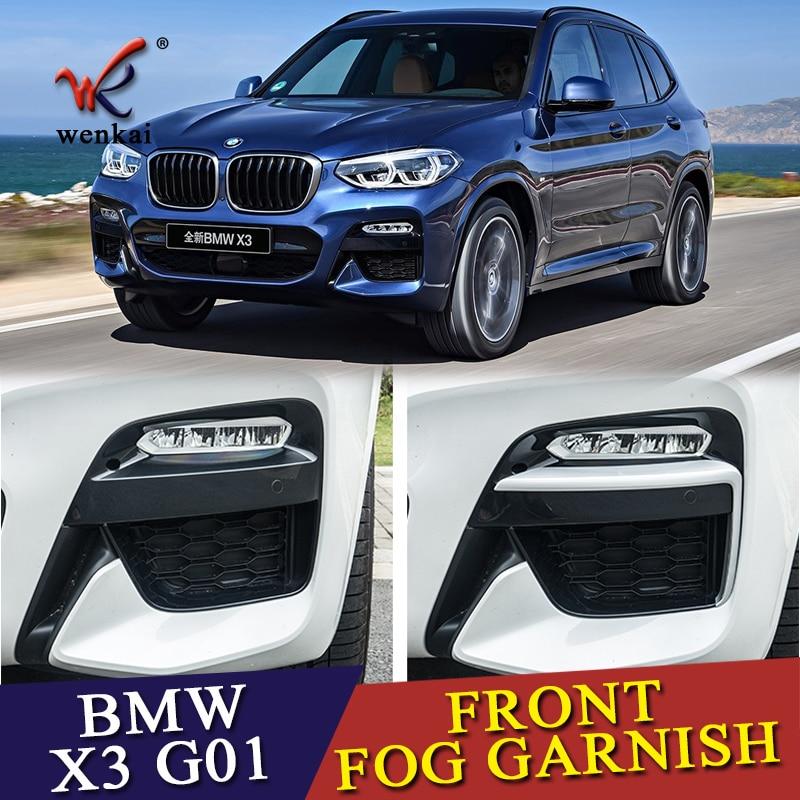 Fit For BMW X3 G01 2018 2019 Matte Front Fog Light Lamp