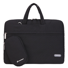 15 inch Laptop Bag Notebook Shoulder Messenger Bag Men Women Handbag Sleeve (Black)