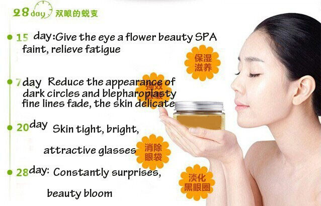 Osmanthus Eye Mask Potent Remove Dark Circles and Pouch Anti Wrinkle To Swelling To Fat Particles Hydrating Eye Cream 60pcs 5