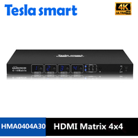 DHL Free Shipping 4 In 4 Out HDMI Matrix 4x4 With Resolution To 4K 2K 3840