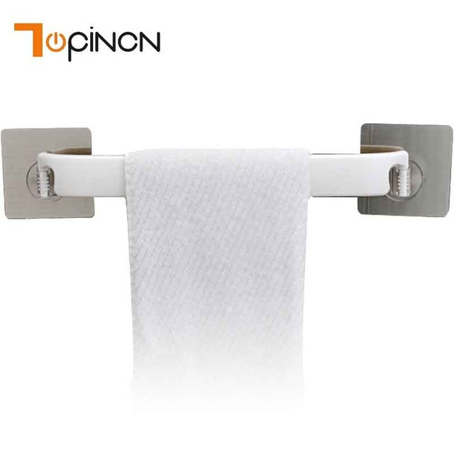 Wall Mounted Towel Holder Wall Shelves Strong Double Sucker Plastic ...
