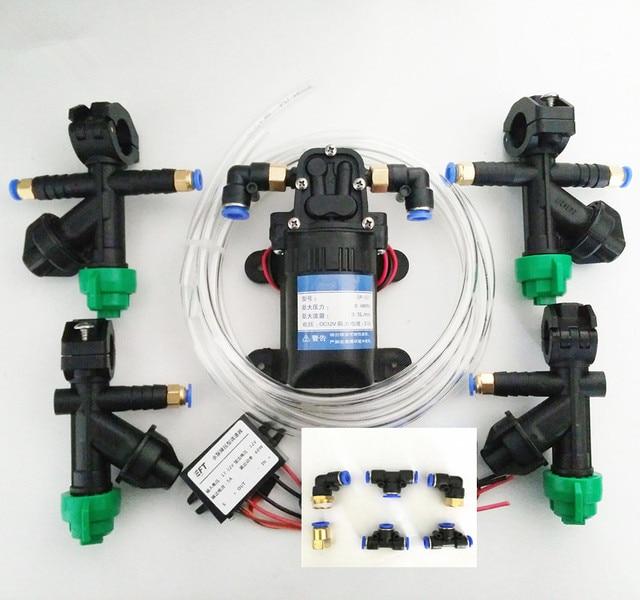 Sistema de pulverización de Dron agrícola DIY boquilla, bomba de agua, módulo Buck, regulador de bomba, adaptador, tuberías de agua para 5L/10L/15L/20L
