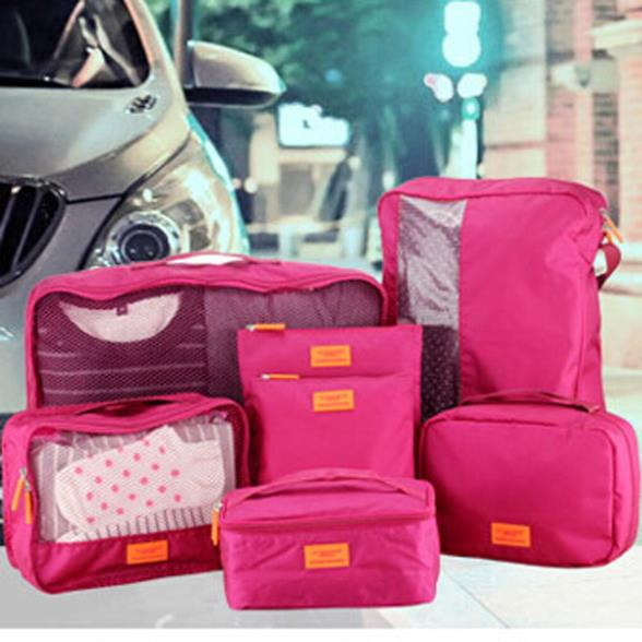 7pcs Clothes Storage Bags Packing Cube Functional Travel