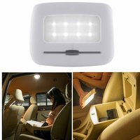 Rechargeable Car Interior LED Touch Dimming Wireless Reading Light Trunk Lamp 6500K White 8 LED With
