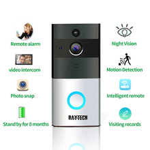 Promo offer DAYTECH Wireless WiFi Video Doorbell 1.0MP Doorbell Camera Night Vision Two-way Audio Battery Operation Waterproof +Indoor Chime